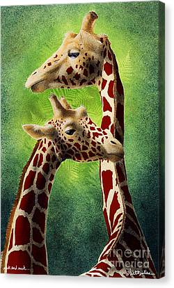 Neck And Neck... Canvas Print by Will Bullas