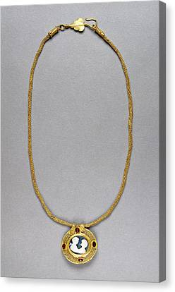Necklace With Cameo Pendant Unknown Roman Empire 250 - 400 Canvas Print by Litz Collection