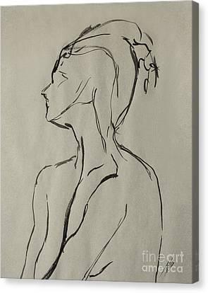 Neckline Canvas Print by Peter Piatt