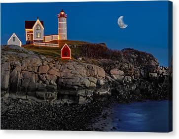 Neddick Lighthouse Canvas Print by Susan Candelario