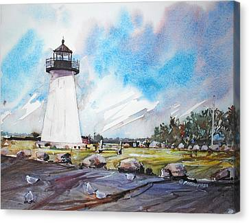 Ned's Point Light Canvas Print by P Anthony Visco