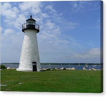Neds Point Lighthouse Canvas Print by Janice Drew