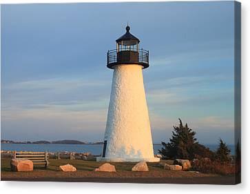 Ned's Point Lighthouse Mattapoisett Massachusetts Canvas Print by John Burk