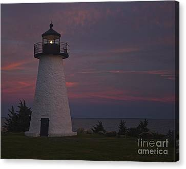 Ned's Point Lighthouse Of Mattapoisett Canvas Print by Amazing Jules