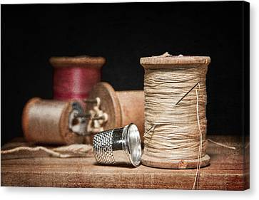 Needle And Thread Canvas Print by Tom Mc Nemar