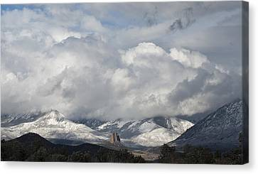 Needle Rock Clearing Sky Canvas Print