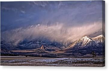 Needle Rock Winters Glow Canvas Print