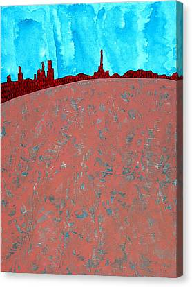 Needles And Dunes Original Painting Canvas Print by Sol Luckman