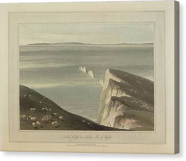 Needles Cliff Canvas Print by British Library