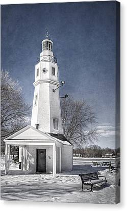 Neenah Lighthouse Canvas Print by Joan Carroll