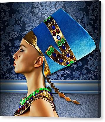 Canvas Print featuring the digital art Nefertiti 2 by Karen Showell