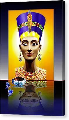 Nefertiti  The  Beautiful Canvas Print by Hartmut Jager