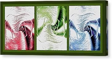 Negative Space Triptych - Inverted Canvas Print by Steve Ohlsen