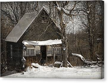 Cabin Window Canvas Print - Neglected by John Stephens