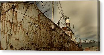 Neglected Whaling Boat Canvas Print by Amanda Stadther