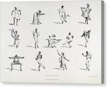 Negro Figuranti Canvas Print by British Library