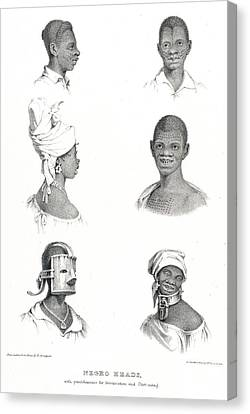 Negro Heads Canvas Print by British Library
