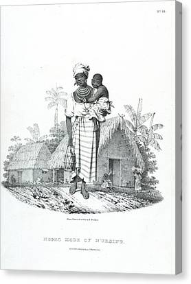 Negro Mode Of Nursing Canvas Print by British Library