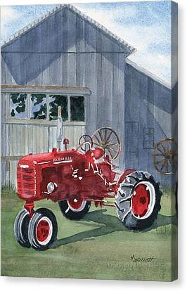 Neighbor Don's Farmall Canvas Print by Marsha Elliott