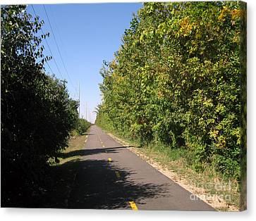 Neighborhood Bicycle And Walking Trail Canvas Print