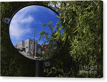 Canvas Print featuring the photograph Neighborhood Reflection by Sherry Davis