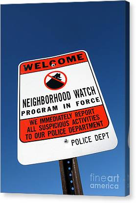 Neighborhood Watch Canvas Print by Olivier Le Queinec