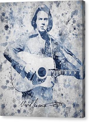 Yesterday Canvas Print - Neil Diamond Portrait by Aged Pixel