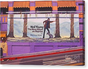 Neil Young Billboard Canvas Print by Frank Bez