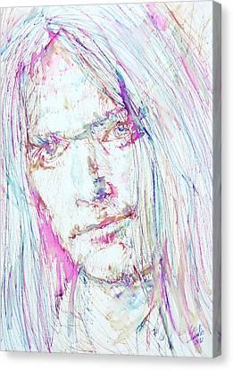 Neil Young - Colored Pens Portrait Canvas Print by Fabrizio Cassetta