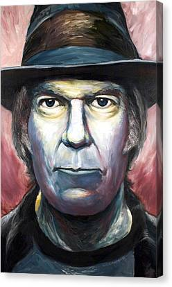 Neil Young Harvest Canvas Print by Mike Underwood