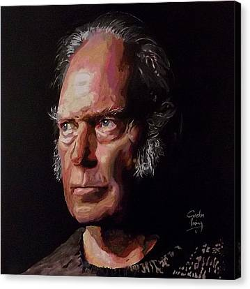 Neil Young Old Man Canvas Print by Gordon Irving