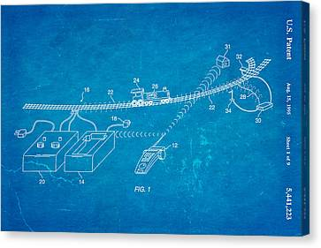 Neil Young Train Control Patent Art 1995 Blueprint Canvas Print by Ian Monk