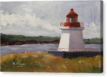 Neil's Harbor Canvas Print by Alan Mager