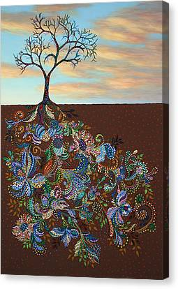 Rooted Canvas Print - Neither Praise Nor Disgrace by James W Johnson