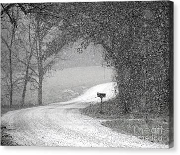 Neither Rain Nor Snow.. Canvas Print