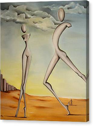 Nella Terra Dei Giganti 2011 Canvas Print by Simona  Mereu