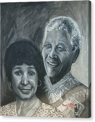 Nelson And Winnie Canvas Print by Howard Stroman