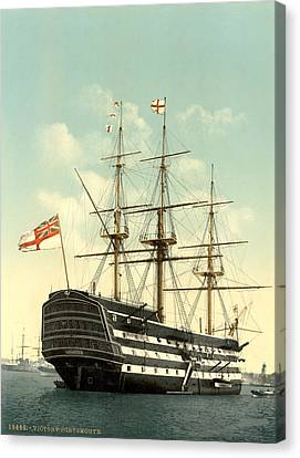 Nelson Hms Victory Canvas Print by Granger