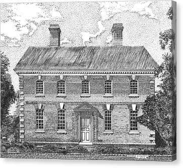 Nelson House In Yorktown Virginia II Of IIi Canvas Print by Stephany Elsworth