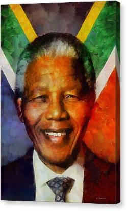 Nelson Mandela 1918-2013 Canvas Print by Kai Saarto