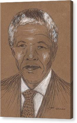 Nelson Mandela Canvas Print by Bob Gumbs