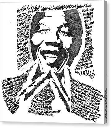 Nelson Mandela Canvas Print by Carlos Santana Trott