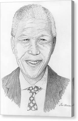 Nelson Mandela Canvas Print by M Valeriano