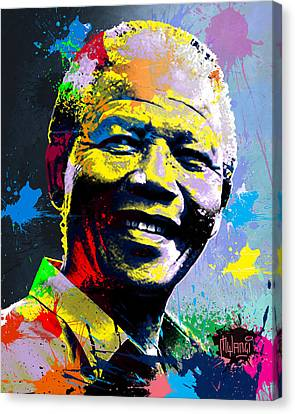Nelson Mandela Madiba Canvas Print by Anthony Mwangi