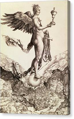 Nemesis Canvas Print by Albrecht Durer