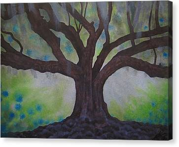Nemeton Iv Or Southern Live Oak Canvas Print