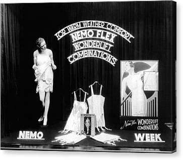 Nemoflex Wonderlift Garments Canvas Print by Underwood Archives