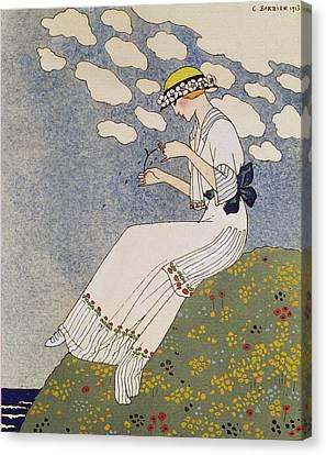 N'en Dites Rien Canvas Print by Georges Barbier
