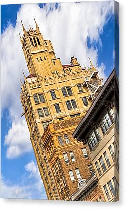Neo-gothic Jackson Building In The Heart Of Asheville Canvas Print by Mark E Tisdale