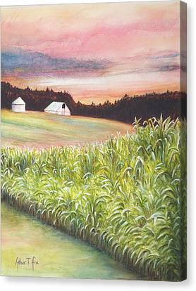 Canvas Print featuring the painting Neola Corn 2 by Arthur Fix